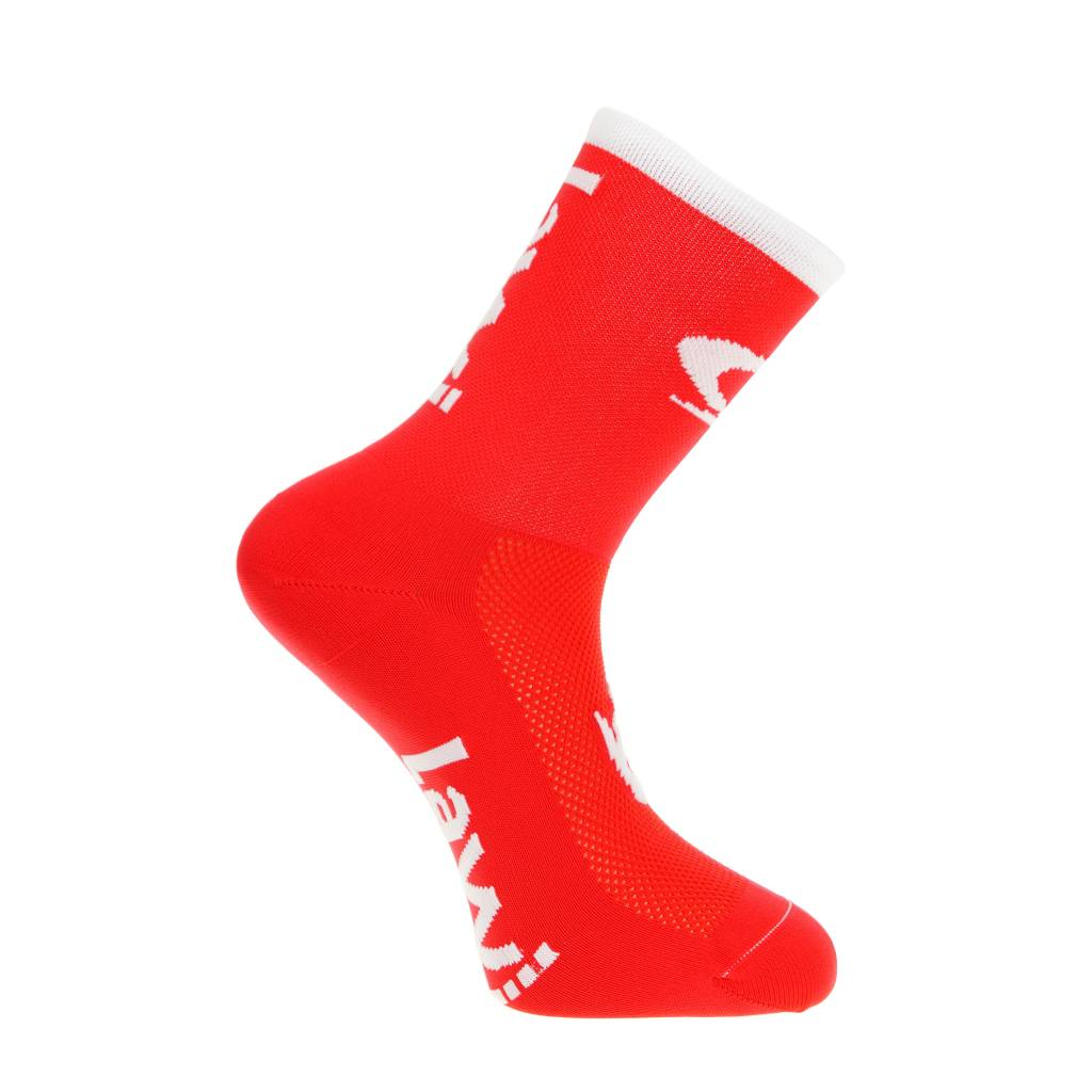 Bike socks long the luxury red / white
