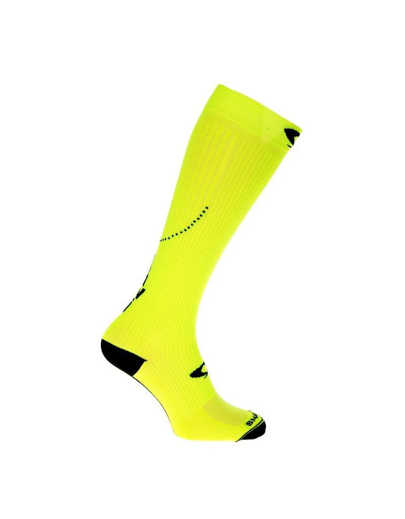 Compressiekousen fluor geel