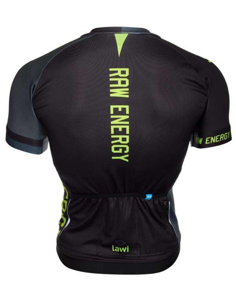 Heren Fietsshirt Raw Energy fluor groen