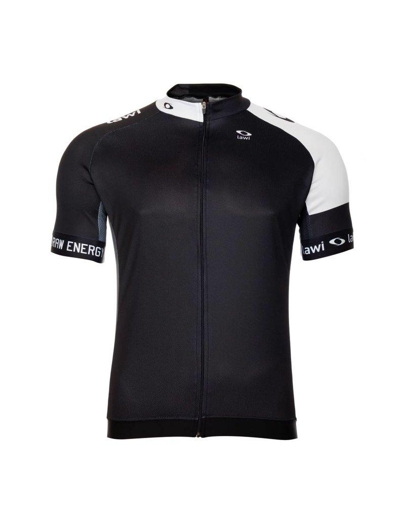 Heren Fietsshirt Raw Energy zwart/wit