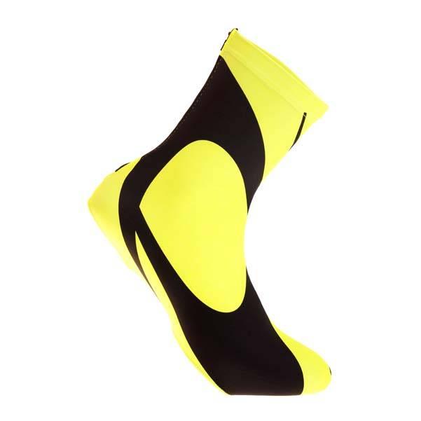 Lawi overschoenen lycra zwart fluor geel