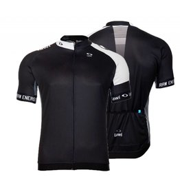 Heren Fietsshirt Raw Energy zwart/wit