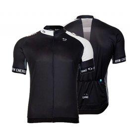 Men Cycling jersey raw energy black/white