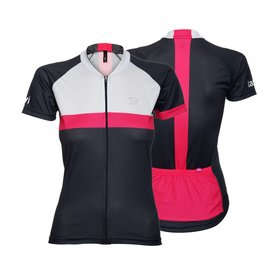Dames Fietsshirt korte mouw Tint-in roze