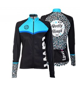 Dames Fietsjack Pretty Tough leopard