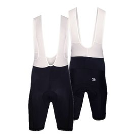 Men cycling trousers black with braces