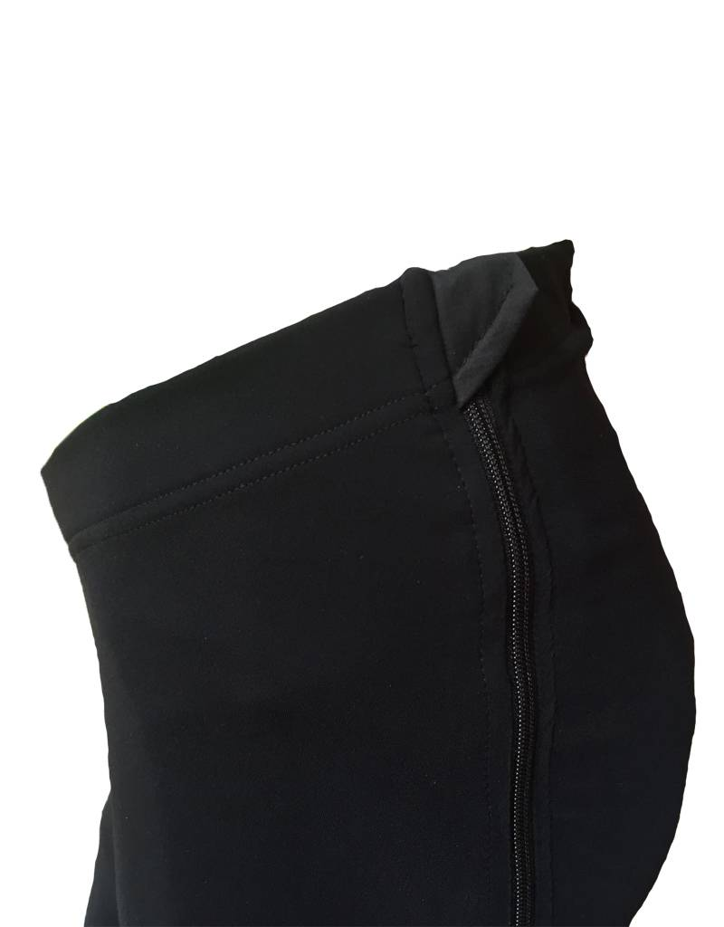 Zipper pants padded
