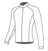 10201 Cycling jersey long sleeve Grid