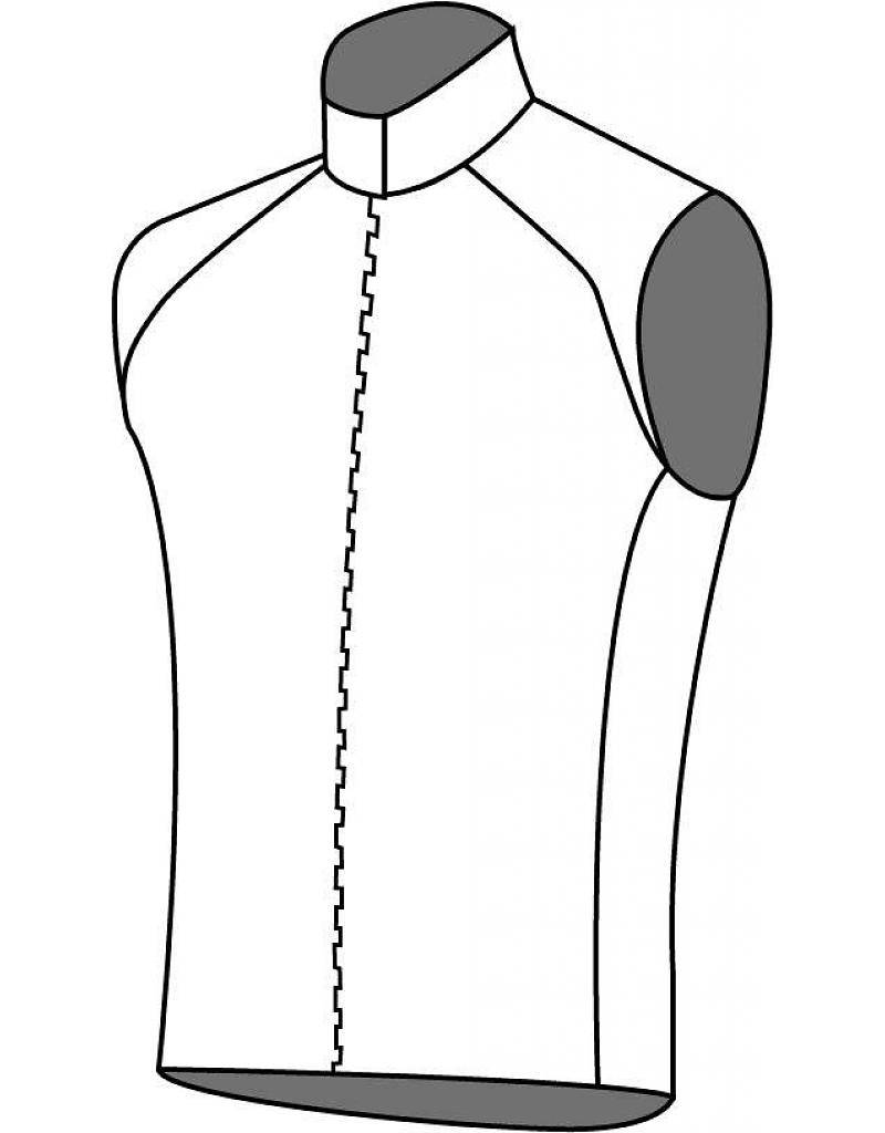 10208 Cycling shirt without sleeves Grid