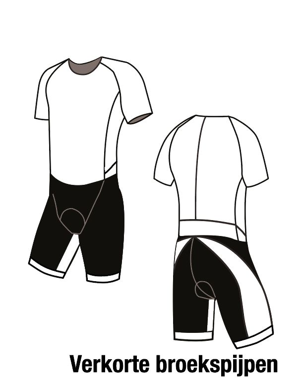 11005K Triathlonsuit short sleeved the Luxe shortened