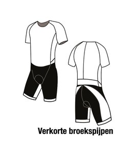 11006K Triathlonsuit korte mouw shark verkort