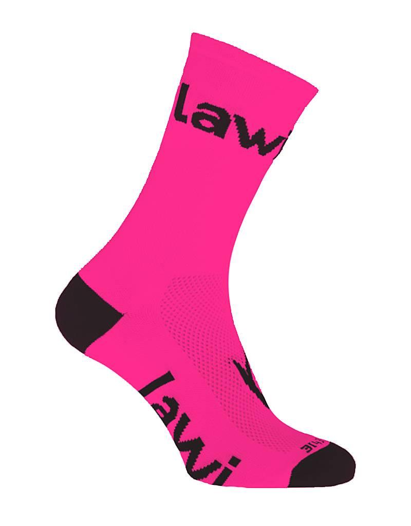 Bike socks long Zorbig fluor pink