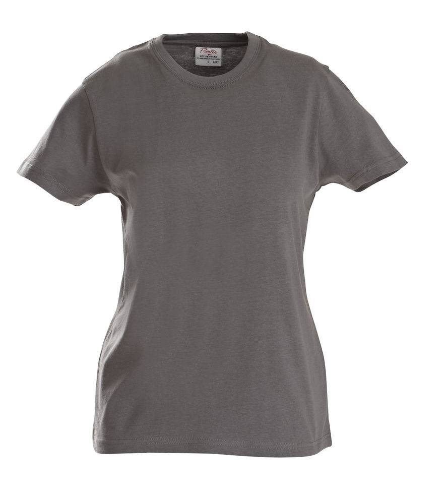 FS80034 - T-shirt Short Sleeves Heavy T Lady StaalGrijs