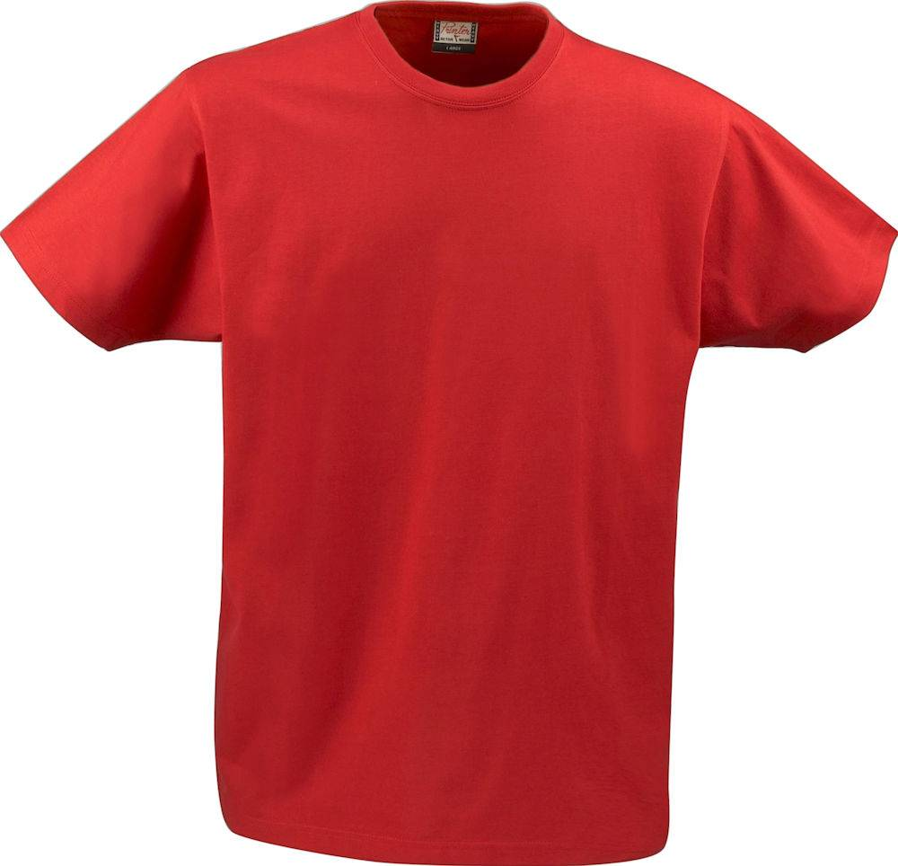 FS80035 - T-shirt Short Sleeves Heavy T Men Rood