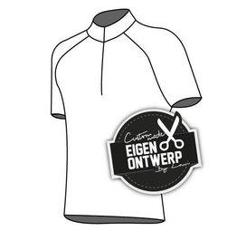 10107- Cycling shirt Grid (short zipper)