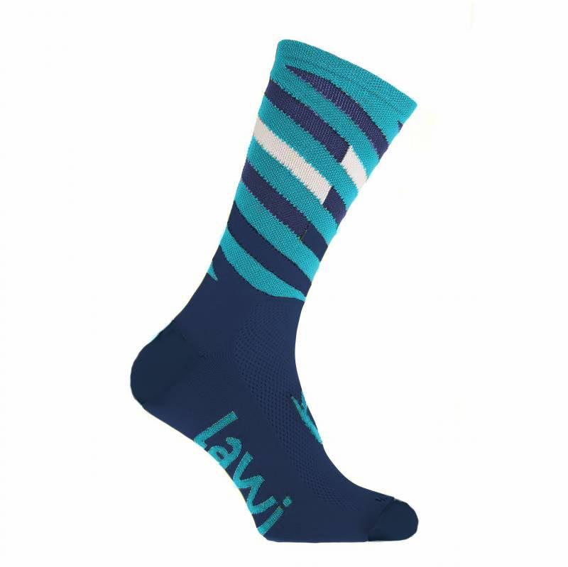 Bike socks Long Relay blue