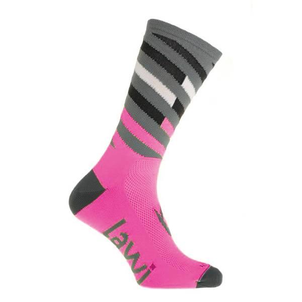 90113 - Fietssokken lang Relay fluor roze