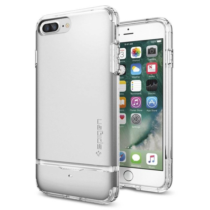 iPhone 7/8 Plus Case Flip Armor - Satin Silver