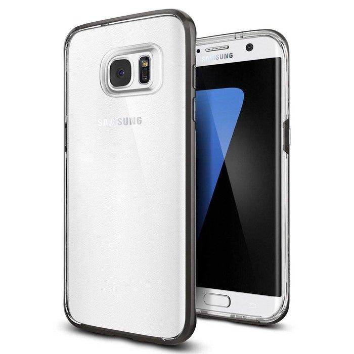 Galaxy S7 Edge Case Neo Hybrid Crystal - Gunmetal