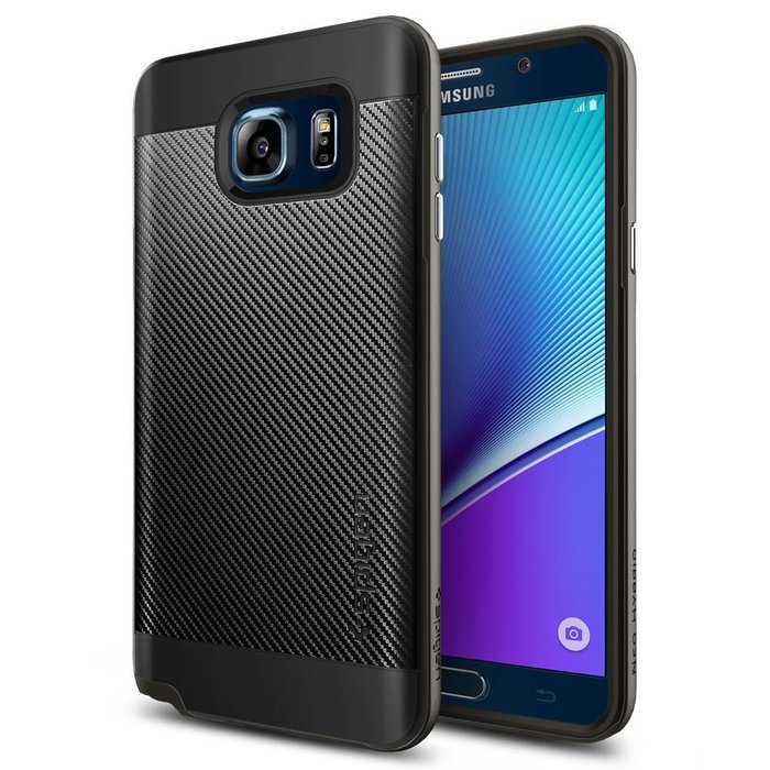 Galaxy Note 5 Case Neo Hybrid Carbon - Gunmetal