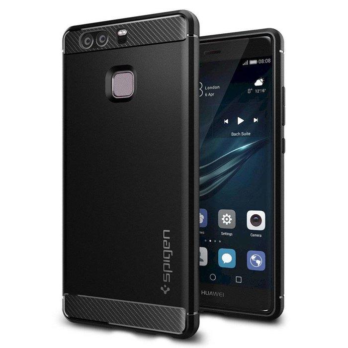Huawei P9 Case Rugged Armor - Black