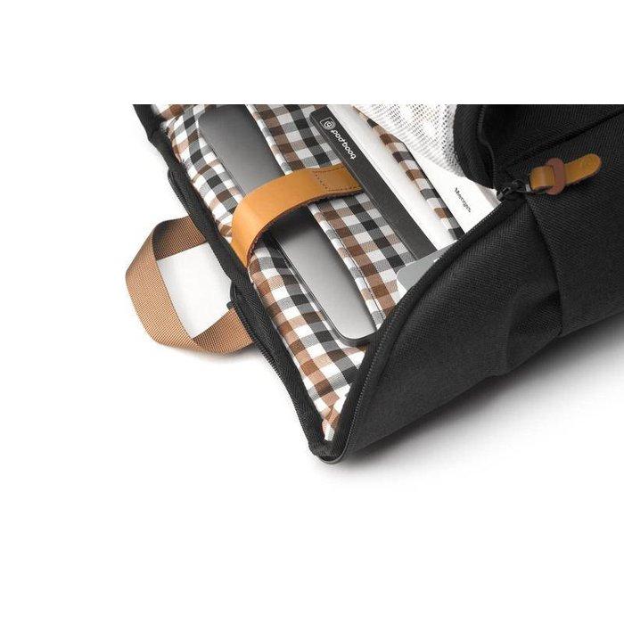 Daypack 13-15 inch Rugzak - Black-tan