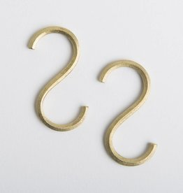 Futagami Brass S-shaped Hook (set of 2)