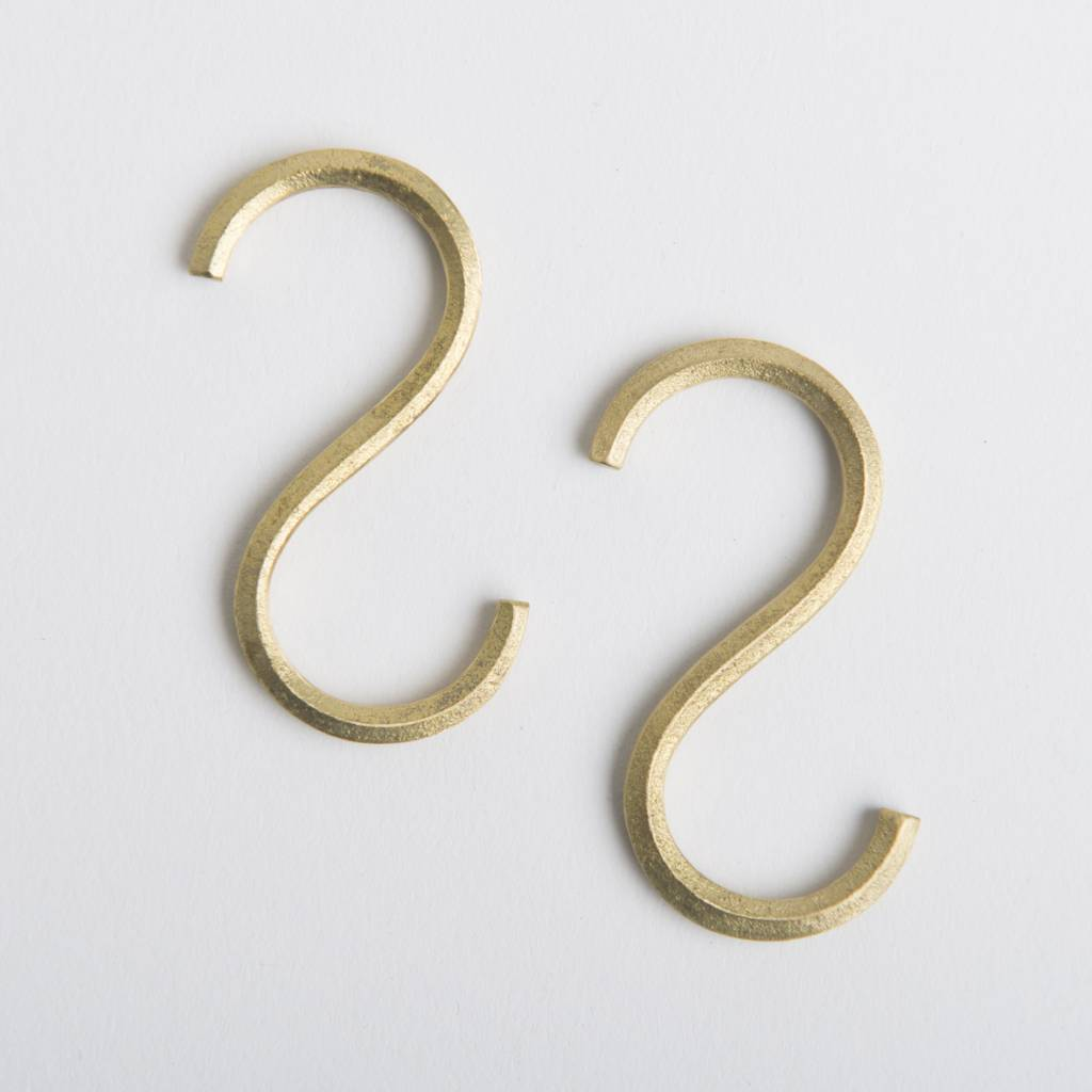 Futagami Futagami Brass S-shaped Hook (set of 2)