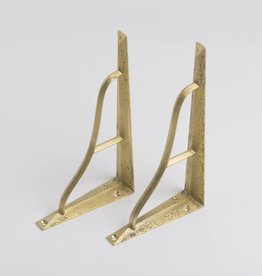 Futagami Brass Shelf Bracket L (set of 2)