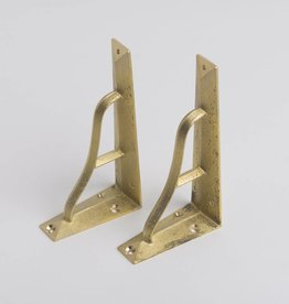 Futagami Brass Shelf Bracket S (set of 2)