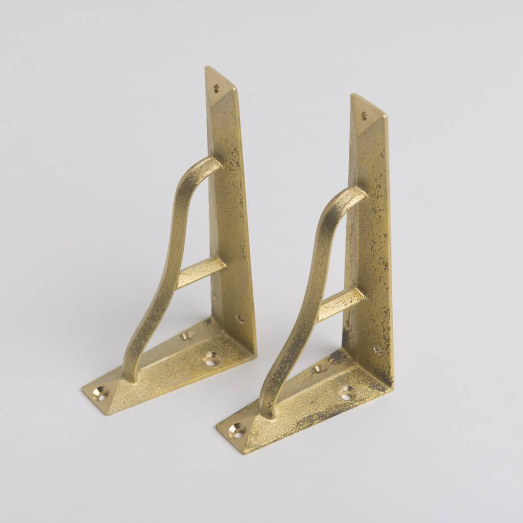 Futagami Futagami Brass Shelf Bracket S (set of 2)