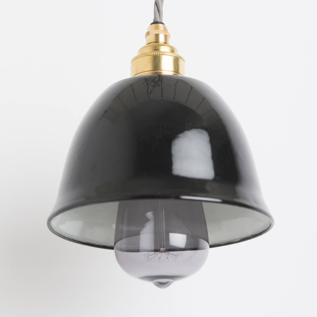 Nook London Enamel Miniature Bell Lamp Black