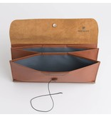Postalco Postalco Cotton & Leather Travel Wallet Brick Red