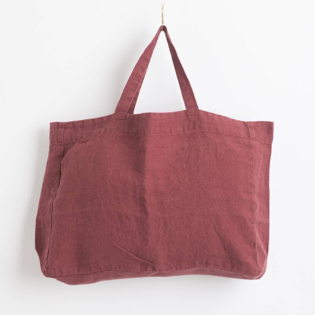 Linge Particulier  Linge Particulier Small Bag Bourgogne Washed Linen