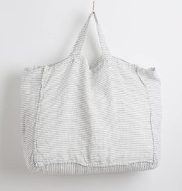 Linge Particulier  Large Bag White & Black Striped