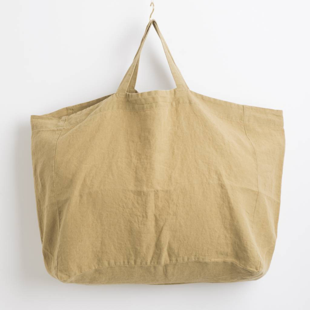 Linge Particulier  Linge Particulier Large Bag Curry Washed Linen