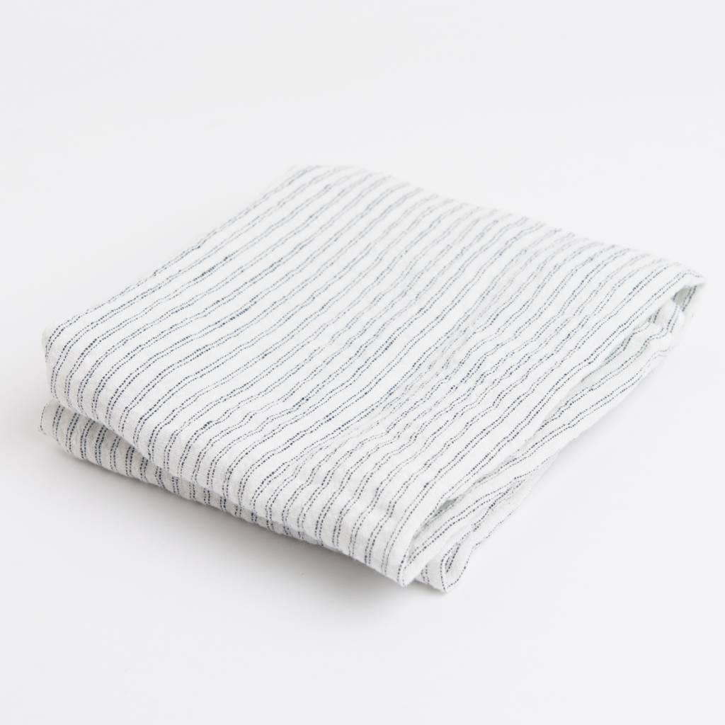 Linge Particulier  Linge Particulier Stripe Black & White Pyama Dishtowel / Apron 55 x 80 cm