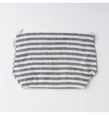 Fog Linen  Fog Linen Navy Striped Linen Fred Pouch