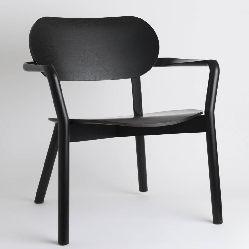 Karimoku New Standard Karimoku Low Oak Castor Chair
