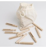 Redecker Redecker Beechwood Clothes Pegs In A Cotton Bag