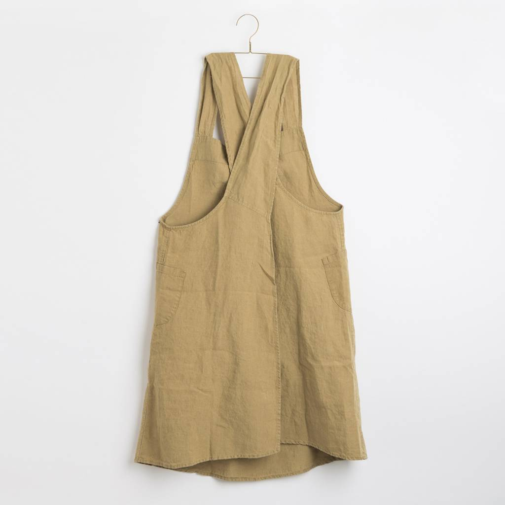Linge Particulier  Linge Particulier Japanese Apron Curry Washed Linen
