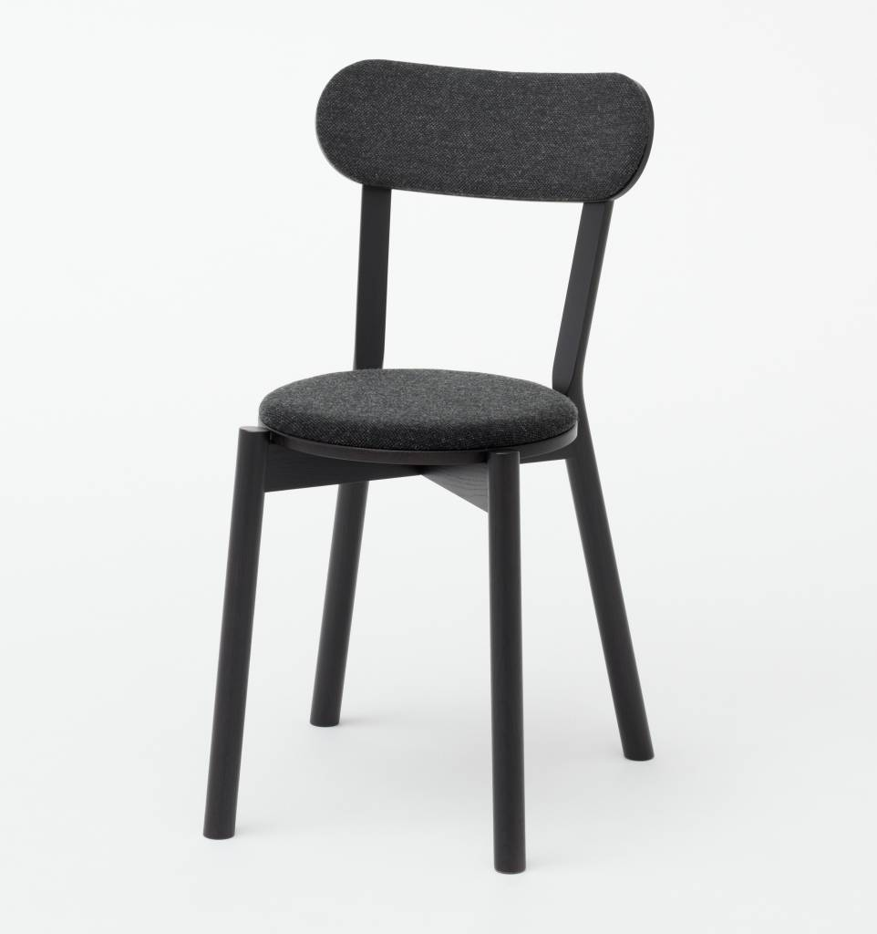 Karimoku New Standard Karimoku New Standard Oak Castor Chair With Pad