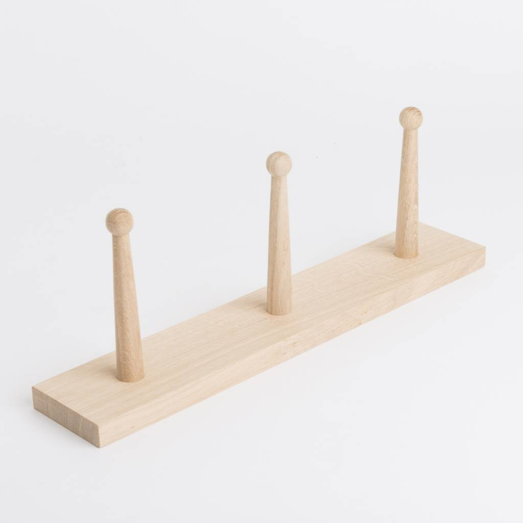 Oak Peg Rail 40 cm