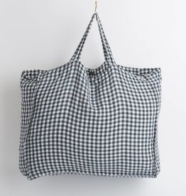 Linge Particulier  Large Bag Anthracite Gingham