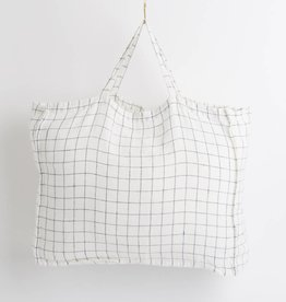 Linge Particulier  LAST ITEM - Large Bag XL Navy & White Checks