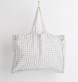 Linge Particulier  Small Bag White & Black Checks