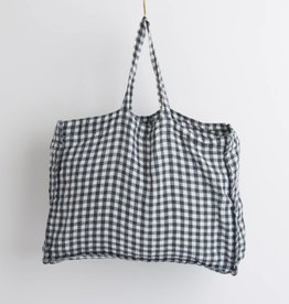 Linge Particulier  Small Bag Anthracite Gingham