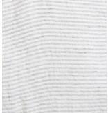 Linge Particulier  Linge Particulier Cushion Cover Pyama Stripe Black & White Washed Linen 35x45 cm