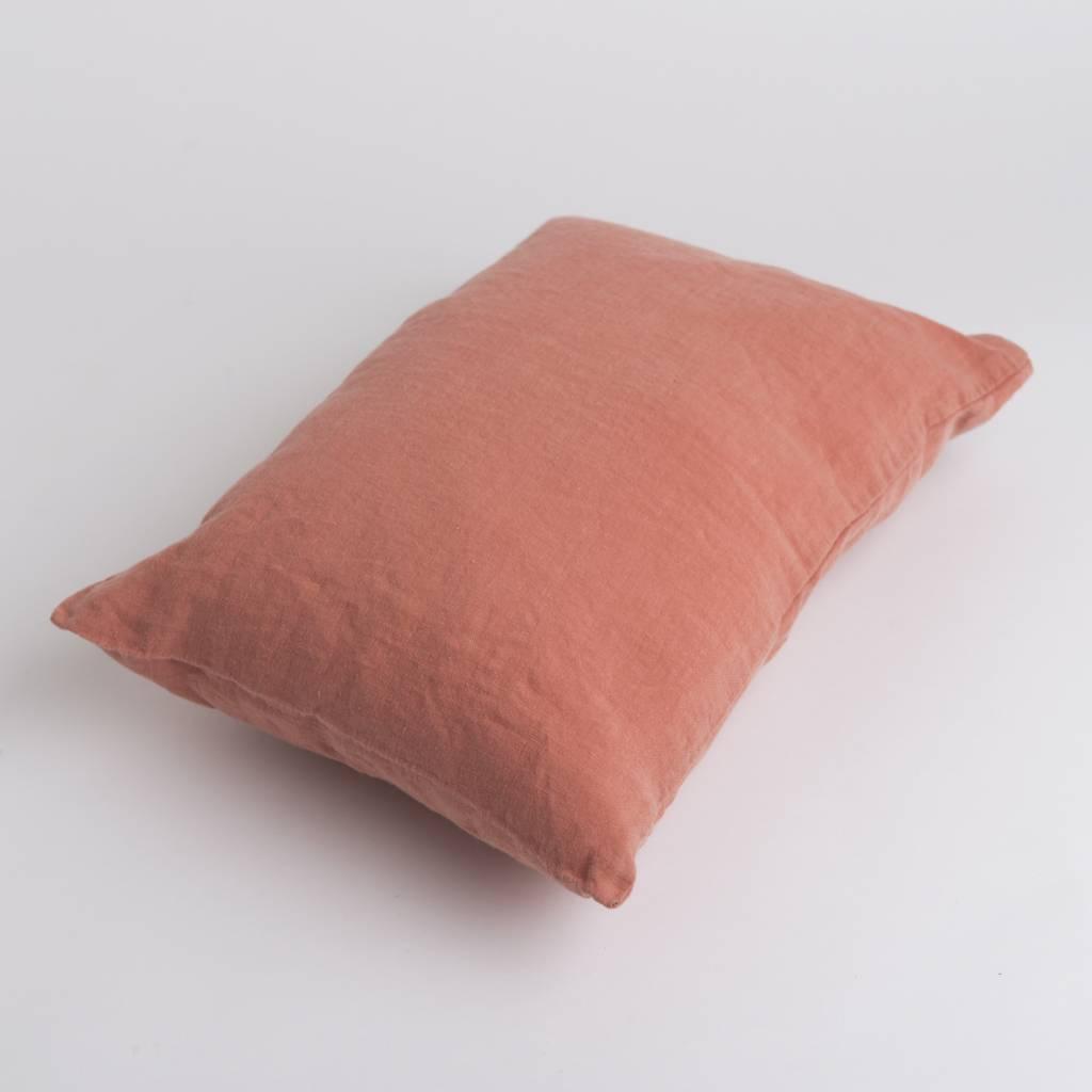 Linge Particulier  Linge Particulier Cushion Cover Peche Washed Linen 30 x 40 cm