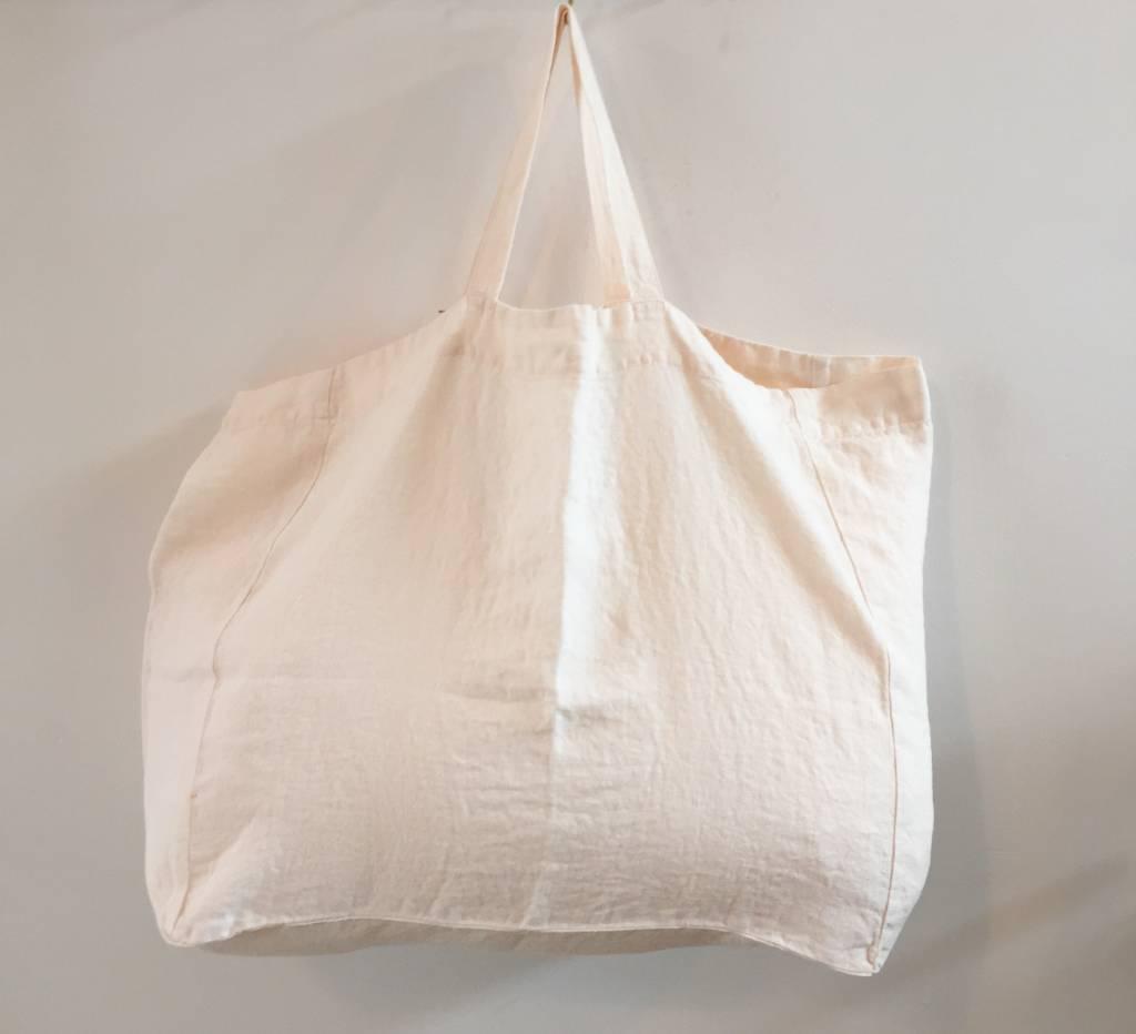 Linge Particulier  Large Bag Eggshell Washed Linen